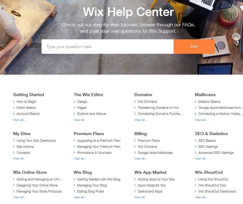 Wix site builder help center