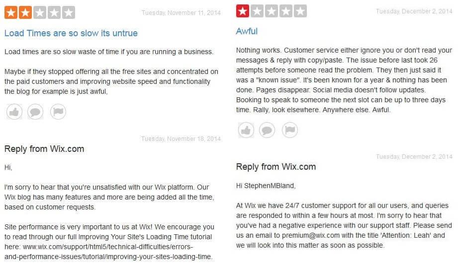 wix commentsbad