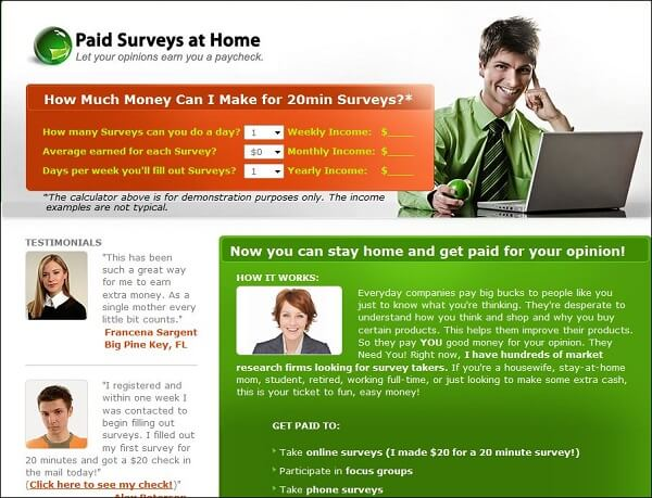 Is Paid Surveys At Home a scam or legit? Read my review.