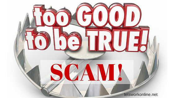 work from home scams too good to be true