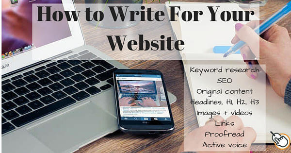 How To Write For Your Website