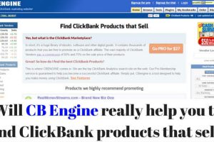 CB Engine for ClickBank products
