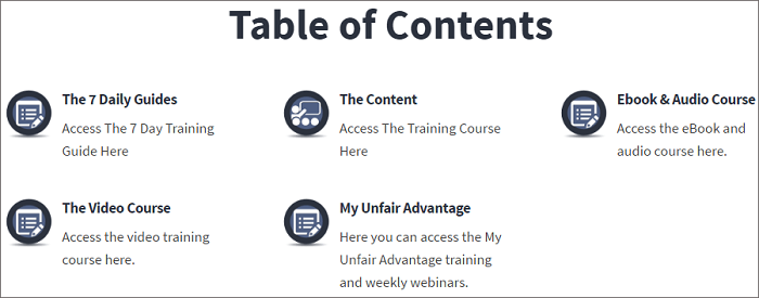 Internet Selling For Newbies table of content