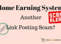 Home Earning System another link posting scam