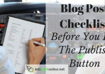Blog Post Checklist things to do before publishing your post