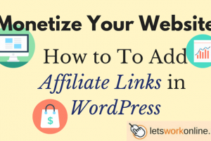 how to add affiliate links in WordPress