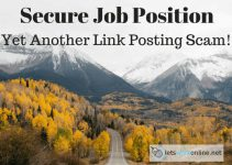 Secure Job Position Review Another Link Posting Scam