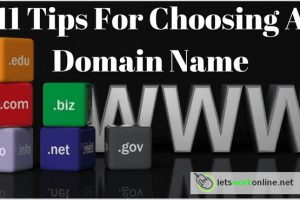 Tips for choosing a domain name for your website