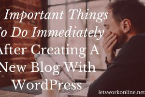 Creating a blog with Wordpress