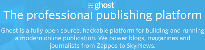 Ghost publishing platform