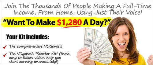 What is VOGenesis lots of hype make money from voice-overs