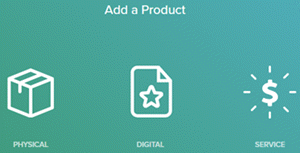 Add a product physical,digital or a service