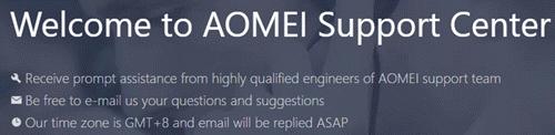 Aomei support center