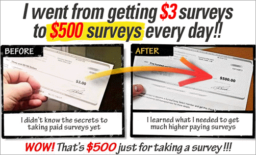 Take Surveys For Cash income proof from $3 to $500 per survey