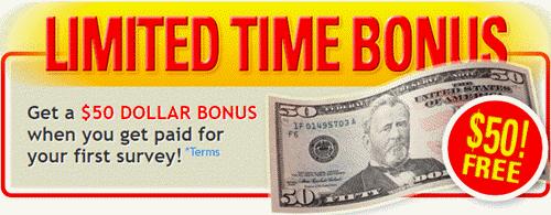 limited time $50 bonus
